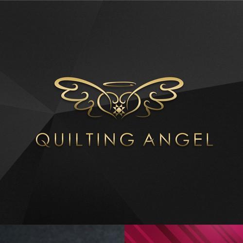 Quilting Angel Logo Design