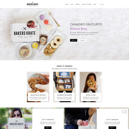 Website for Bakers Krate