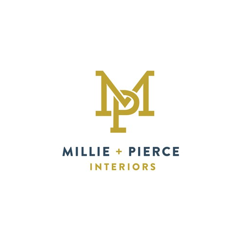 Logo Design concepts for Millie + Pierce Interiors