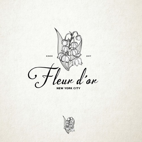 Hand drawn logo for the  florist company based in New York.