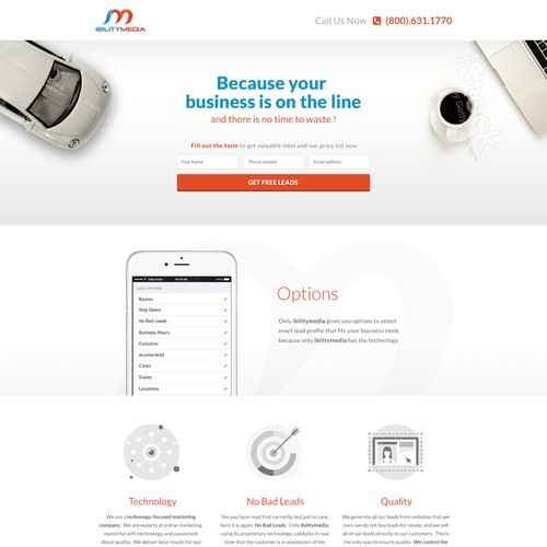 """Landing Page for """"Ibility Media"""""""
