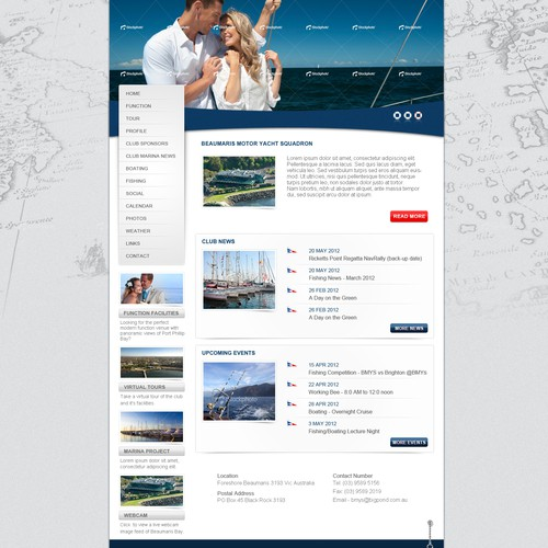Website design for Beaumaris Motor Yacht Squadron