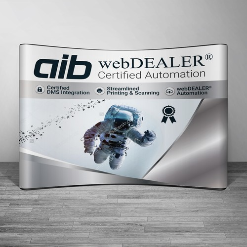 Create conference display for tech company in auto industry