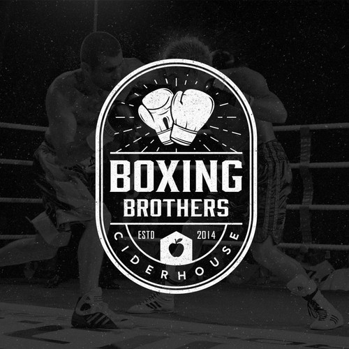 logo concept for Boxing Brother Ciderhouse