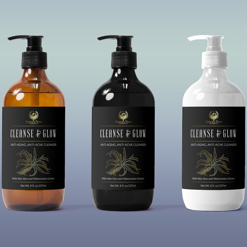 Cleanse & Glow Label Design