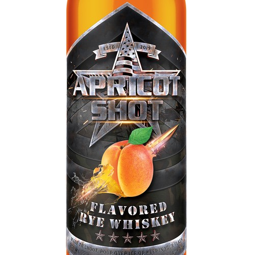 Epic Bottle Design : Apricot Shot
