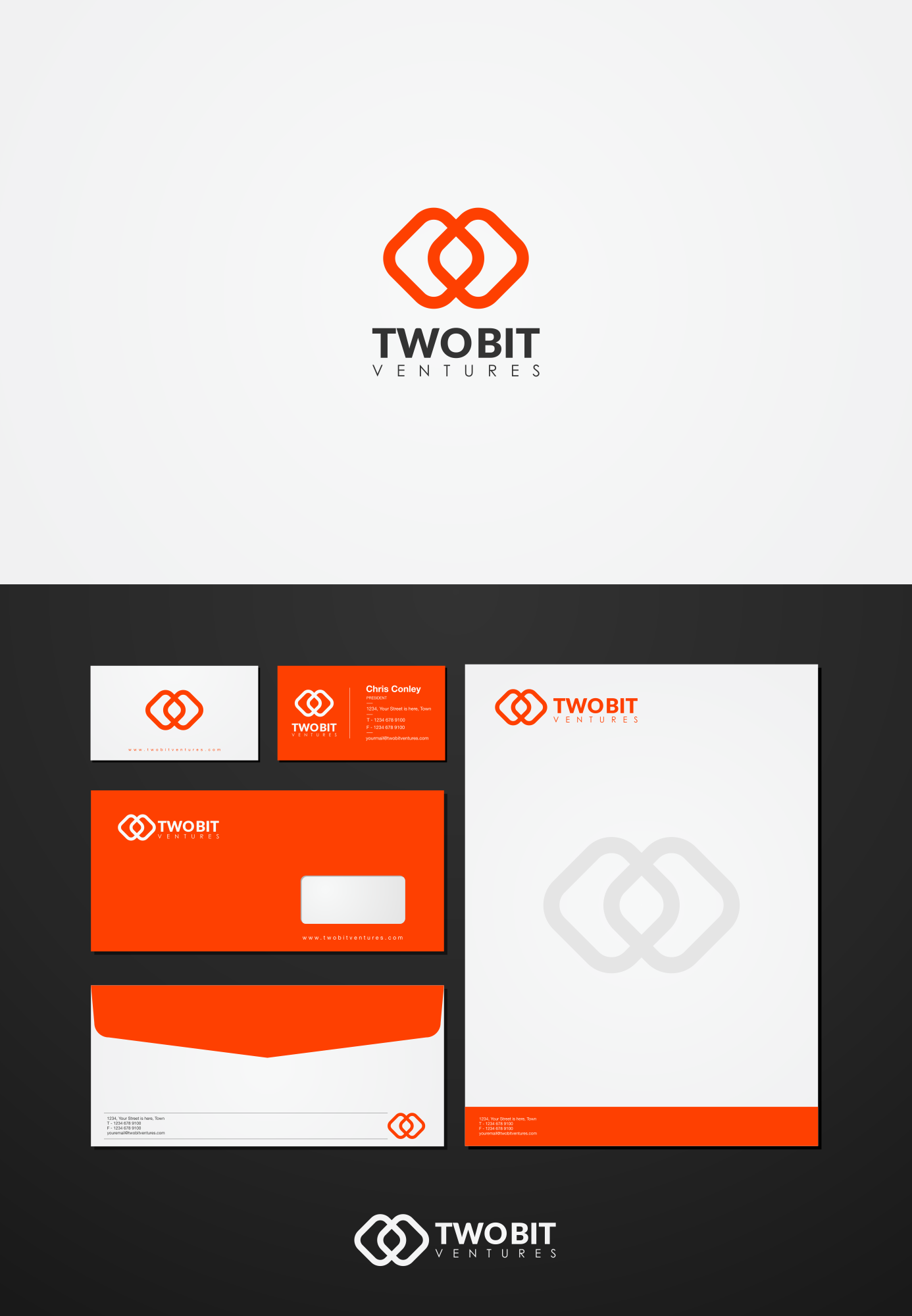 Modern identity with a smile for a social venture firm
