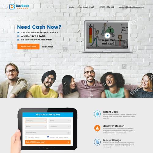 Landing Page for BuyBack Bazaar