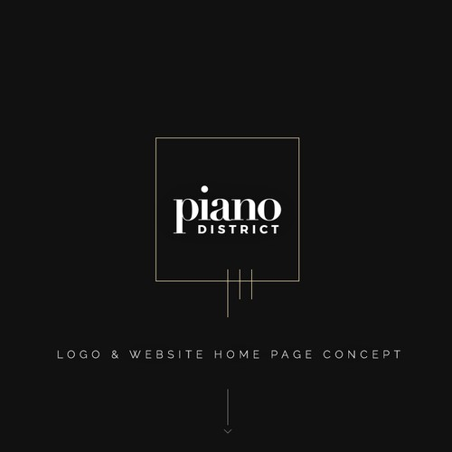 Logo and home page for a luxury waterfront development.