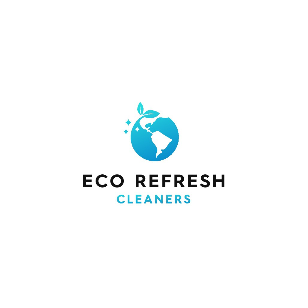 Clean and simple design for an eco friendly cleaning company