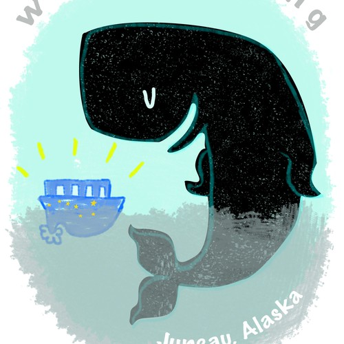 Whale Watching Shirt Design