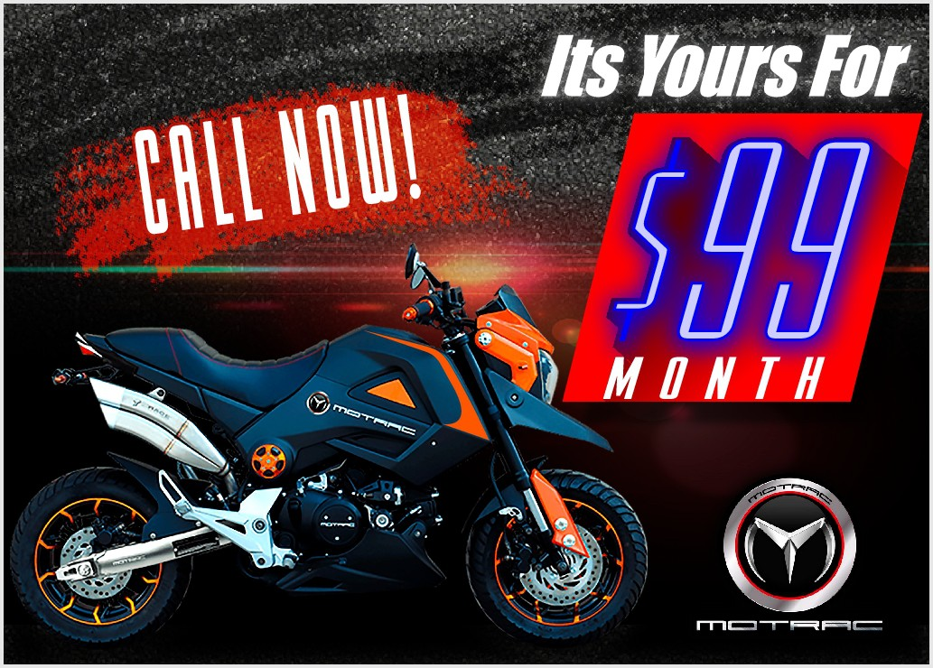 Design an awesome product launch banner for a motorcycle finance company