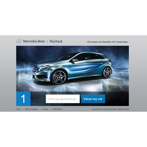 New website design wanted for Mercedes Buyback and Mercedes Upgrade