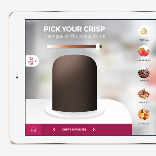 Innovative Dessert App Design