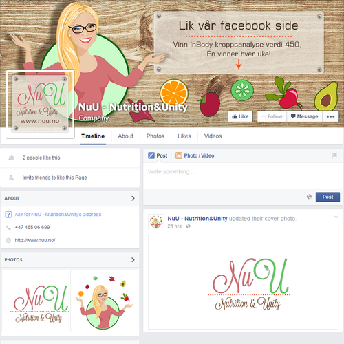 Facebook cover for stratup project