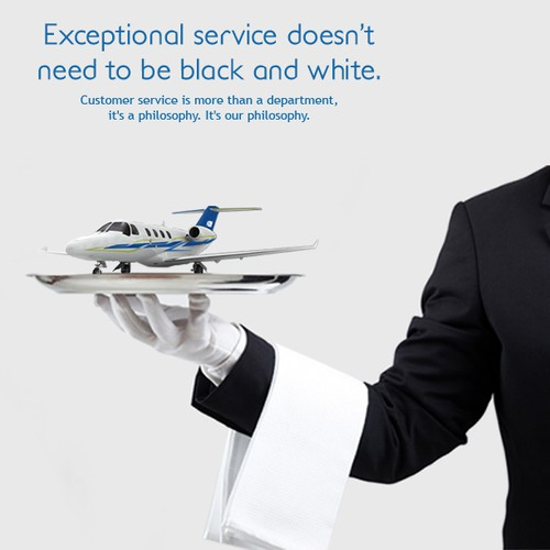 Creative print advertising for Jet Center