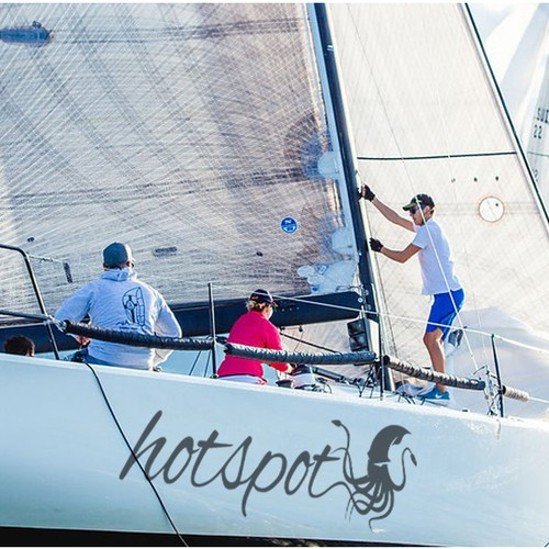 """hotspot"" goes FASTNET 2017: Logo design for a boat"