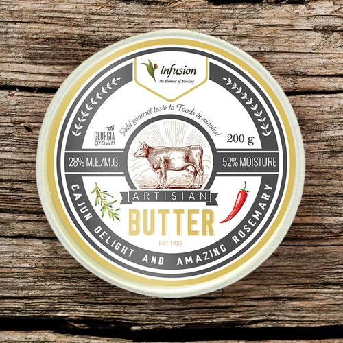 Infusion Blends Co., olive oil and artisan butter labels design