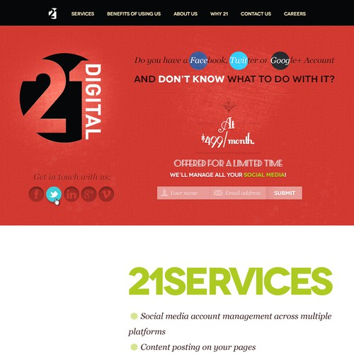 Help 21Digital with a new website design