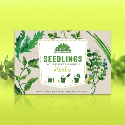 Creative packaging for new gardening product