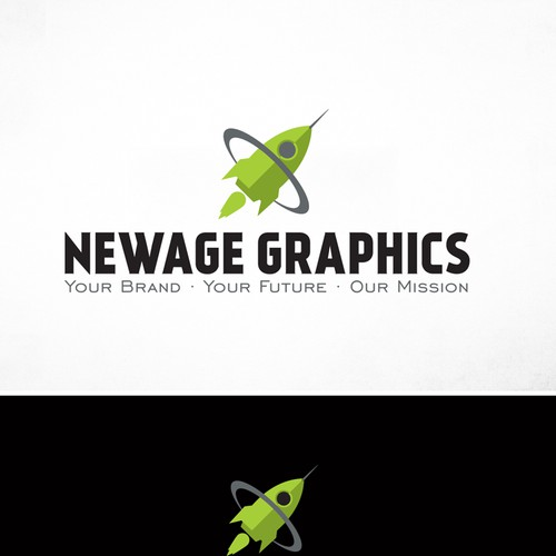 Create a futuristic logo and character for Newage Graphics (Sign & Printing  co.)