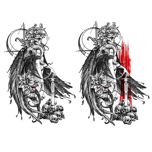 tattoo dama de la justicia