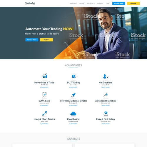 Website Design for Trading Bot Solutions