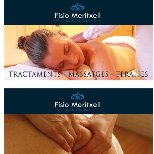 crea dos ilustraciones contiguas que creen necesidad de un masaje o rehabilitación