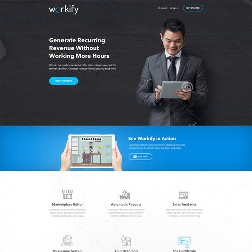 Web Design for a StartUp