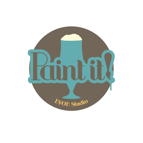 Create a logo for Paint it!, instructional BYOB painting class
