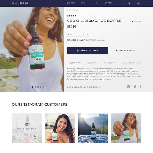 Design CBD Oil Product Page