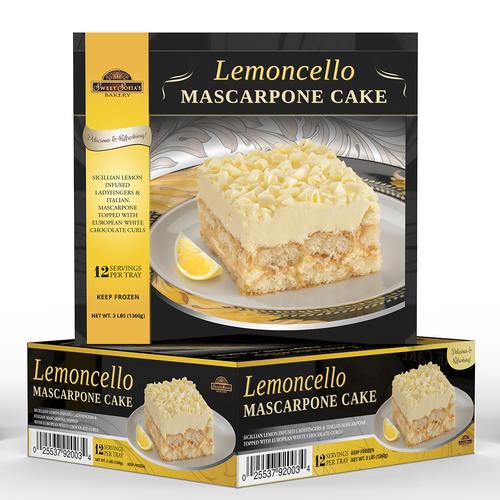 Lemoncello Mascarpone Cake box design for Taste It Presents (USA)