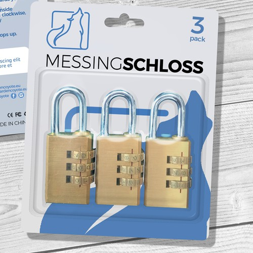 Combination Lock Blister Pack