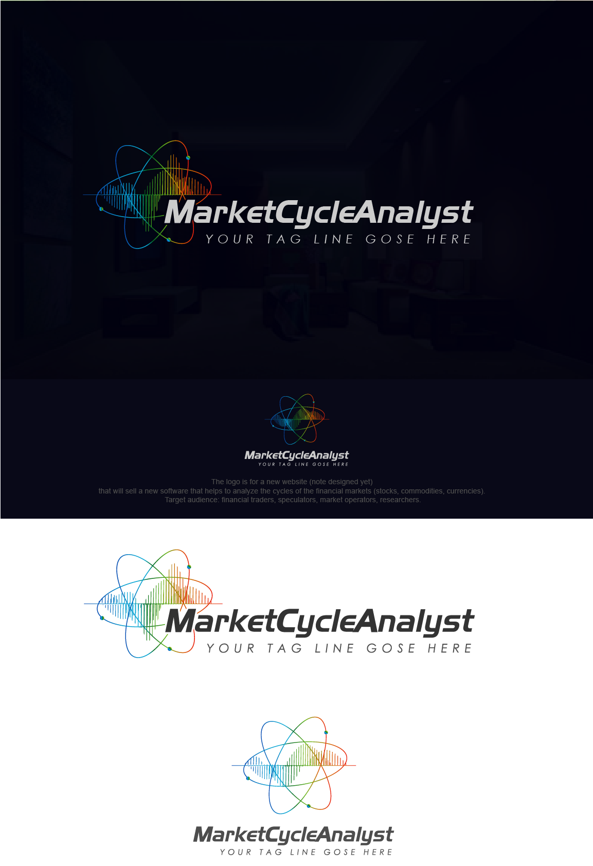 Logo for new software that analyzes financial markets using cycle theories