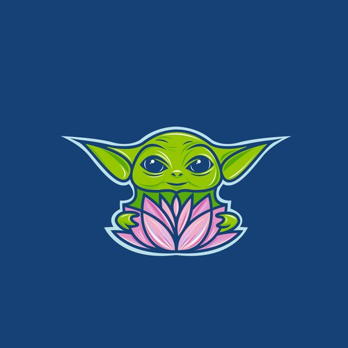 Colorful 'Baby Yoda' logo for Remix Projject