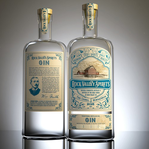 Labels for Rock Valley Spirits
