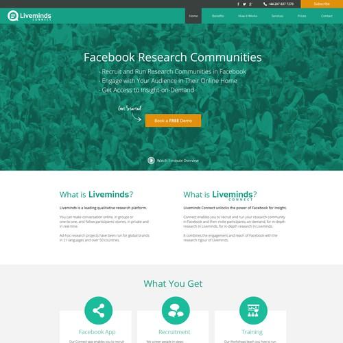 Landing Page Design for Liveminds