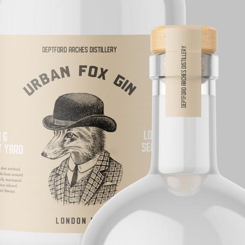 gin label • Urban Fox Gin