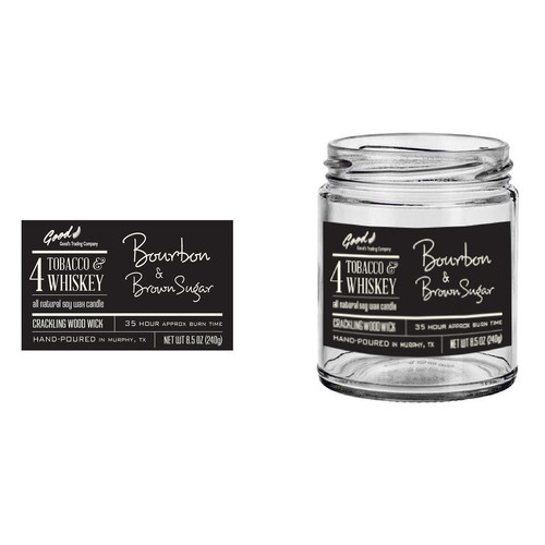 Label design for all natural soy candle with masculine scents.