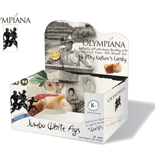 Create Captivating Box and Label design for Natural Greek Dried Figs!
