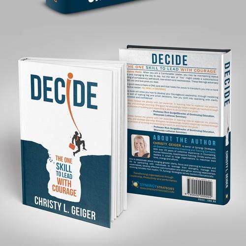 """Creative -Bold Book cover """"Decide"""""""