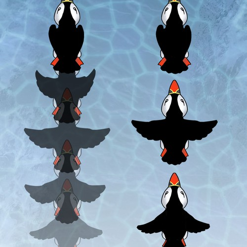 flight cycle for a puffin animation