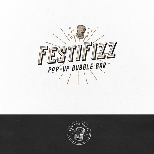 Logo for FestiFizz - pop up bubble bar