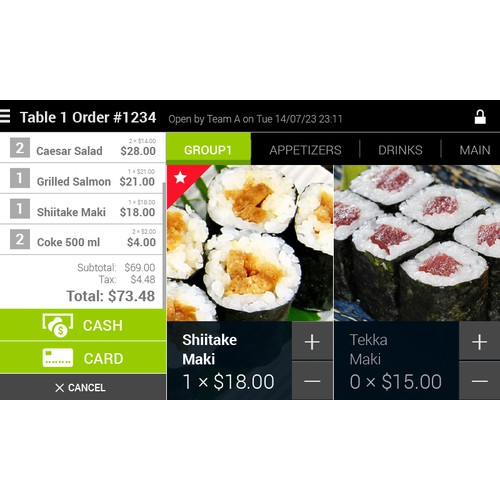 Restaurant POS Application for Android Tablets