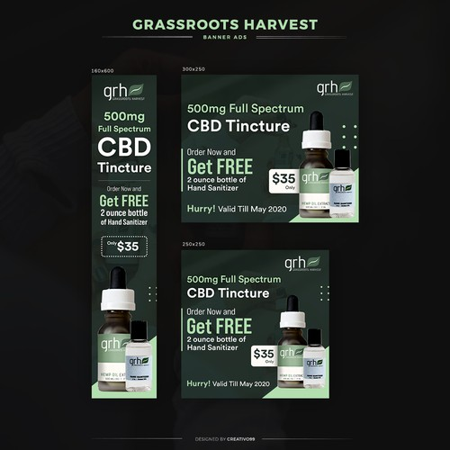Sharp and striking Banner ads for CBD Products