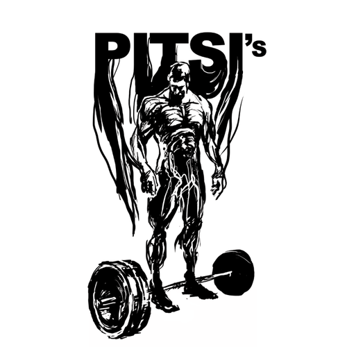 Pitsi's gym comic book character
