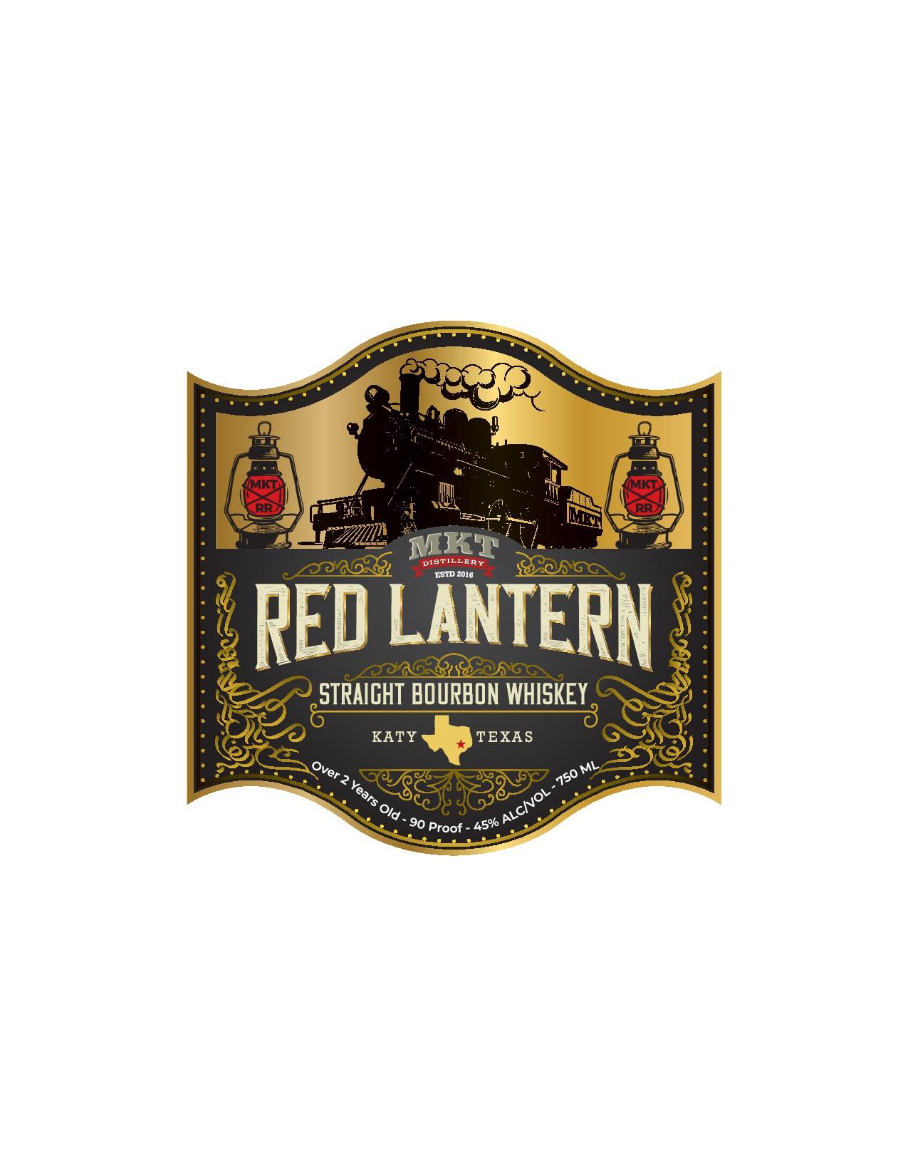 Red Lantern Bourbon Label