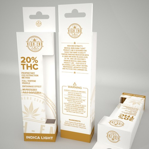 Product Packaging for High End Medical Marijuana