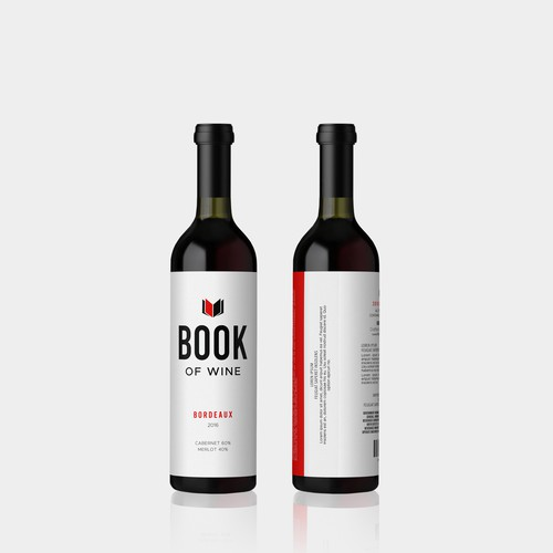 Bold label design for Book of Wine