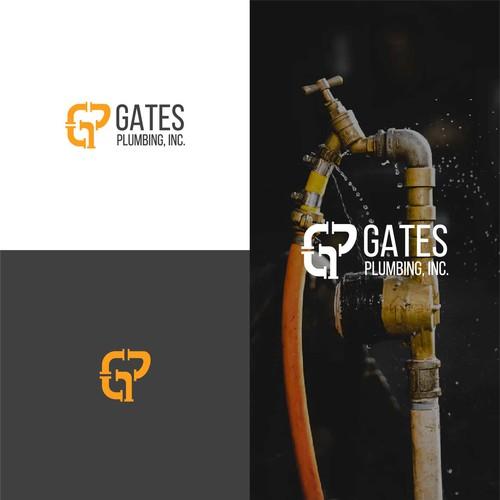 "plumbing logo letter ""GP"""